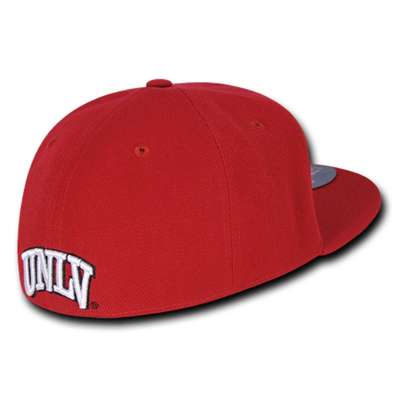 University of Nevada Las Vegas UNLV Rebels NCAA Fitted Flat Bill Baseball Cap Hat