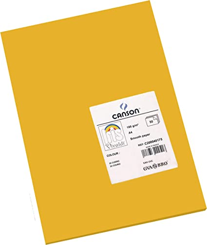 Oferta amazon: Canson Iris - Cartulina, 50 Unidades, Color Cuero