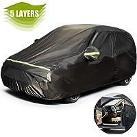 Favoto - Funda de ajuste universal para coche, cubierta para coche, color negro