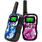 Walkie Talkies For Kids , Range Up to 3 Miles With Backlit LCD Display And Flashlight Walkie Talkies For Boys Girls…