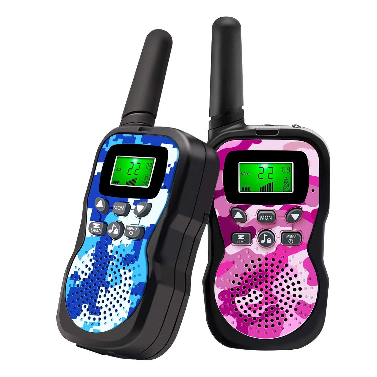Walkie Talkies For Kids , Range Up to 3 Miles With Backlit LCD Display And Flashlight Walkie Talkies For Boys Girls Outdoor Toys For 3-12 Year Old Boys Girls Bset Gifts For 3-12 Year Old Boys Girls 71-kD-7Jr7L