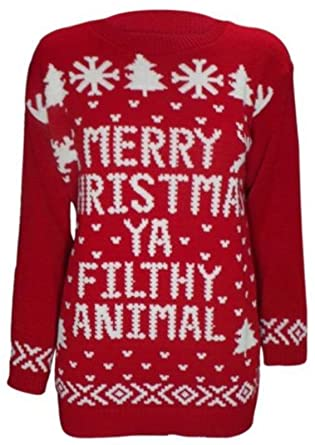 merry christmas ya filthy animal jumper