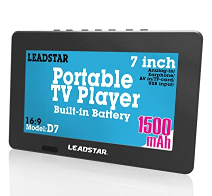 7 Inch portátil pequeño LED TV Digital DVB-T para Coche, Camping, al