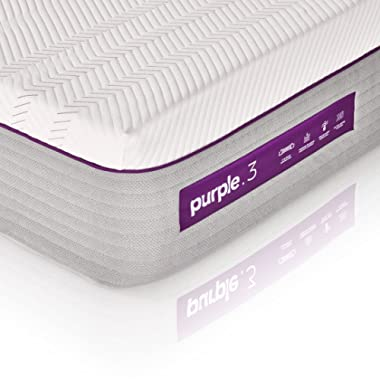 The New Purple Mattress, with Soft 3  Smart Comfort Grid Pad and Cooling Comfort-Stretch Cover (Queen)
