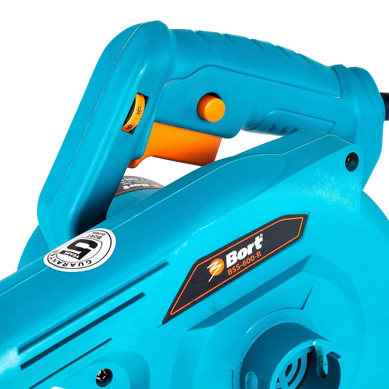 600 W regolazione della velocit/à. 13000 giri//min Bort BSS-600-R Soffiatore Elettrico