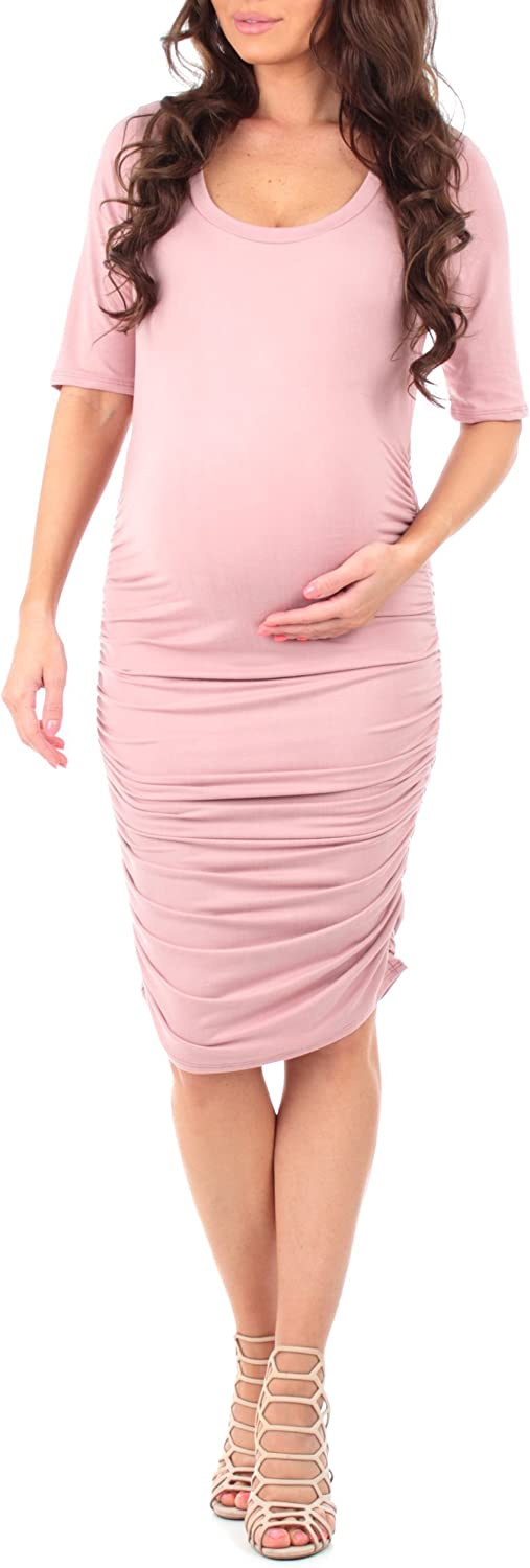 Women's Maternity Ruched Dress for Baby Shower or Casual Wear - Made in USA at  Women's Clothing store
