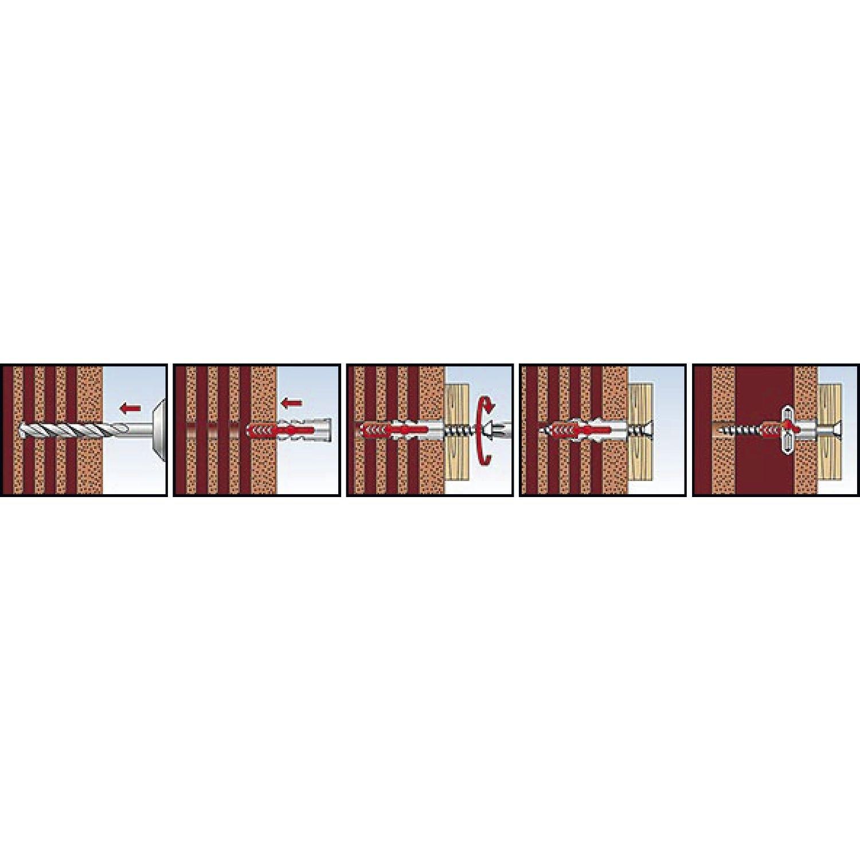 Fischer Fixtainer/ /Duo Power//Duotec Surtido 200/unidades en malet/ín tacos Di/ámetro 6/mm y 8/mm