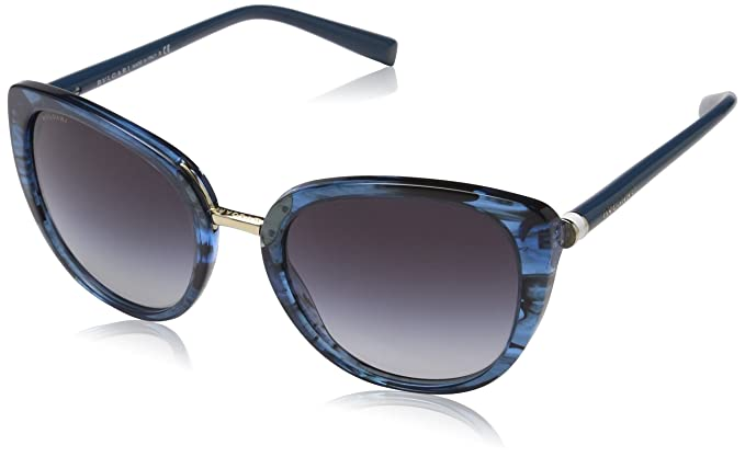 9f6a586557fe Bulgari 0BV8177 53968G 53, Montures de Lunettes Femme, Bleu (Variegated  Bluette Greygradient)  Amazon.fr  Vêtements et accessoires