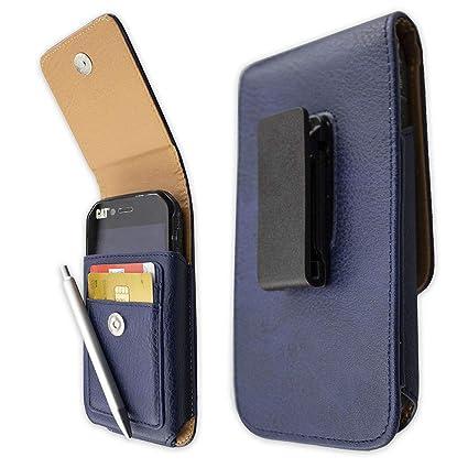 caseroxx Handy-Tasche Outdoor Tasche für Blackview BV5000 aus Echtleder, Handyhülle für Gürtel in blau