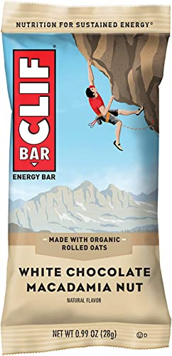 CLIF BAR – Mini Energy Bars – White Chocolate Macadamia Nut Flavor – 0.99 Ounce Snack Bars, 20 Count