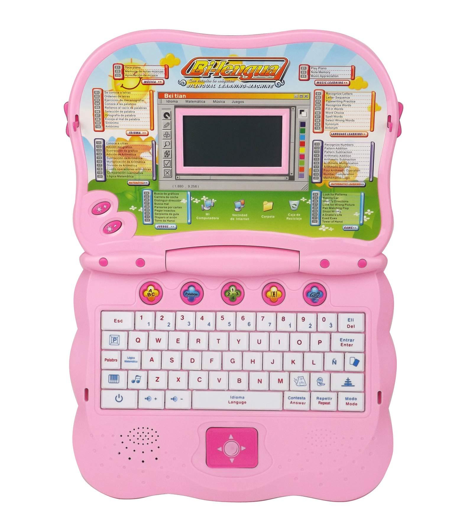 Liberty Imports Bilingual Advanced Learning Children Laptop - English and Spanish (Pink) by Liberty Imports (Image #3)