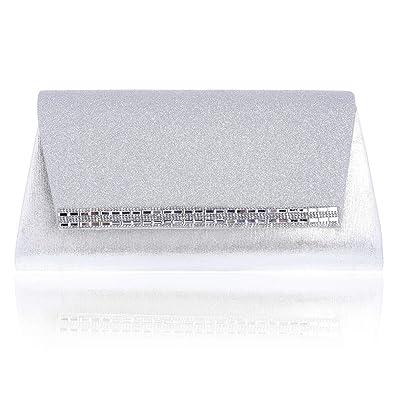 Damara Pochette de Soirée Femme Synthétique Texture Crystal Enveloppe, Or Clair