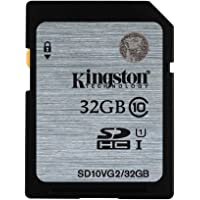 Kingston SD10VG2/32GBFR SD Card 32GB Class 10 UHS-I SD10VG2/32GBFR
