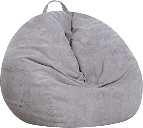 Reviewed: SANMADROLA Stuffed Animal Storage Bean Bag Chair Cover No Beans