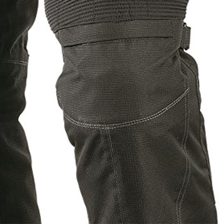 Kurzgr/ö/ße Motorradhose Standard und Kurzgr/ö/ßen -Spider- Herren Sommer Winter Motorrad Textilhose mit Protektoren und Hosentr/äger L schwarz