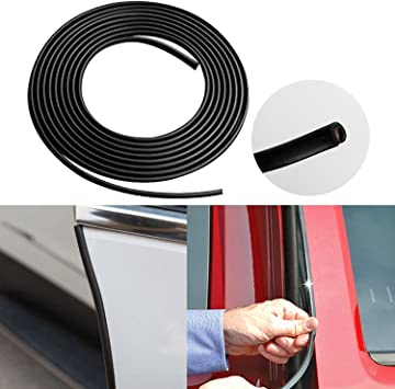 U-Channel Moldings BLACK Trim Mouldings 50 Foot Roll DOOR EDGE GUARDS