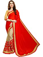 Zofey Georgette Saree With Blouse Piece (_Red_Free Size)