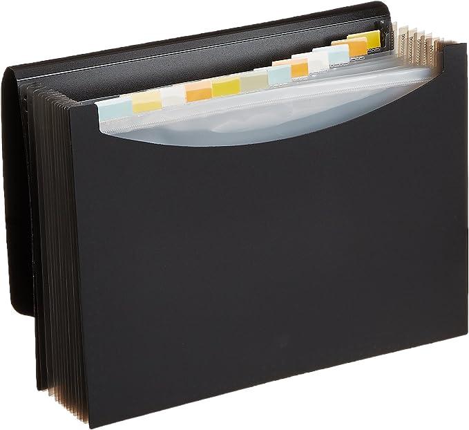 Veloflex 4446880 F/ächertasche Office DIN A4 schwarz F/ächermappe ca 500 Blatt Fassungsverm/ögen 24 F/ächer