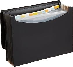 AmazonBasics Carpeta de archivo desplegable tamaño carta, negro