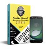 Gorilla guards HD+ Clear tempered glass screen protector for Moto Z2 play 5.5inch (PRO++ series) 10H hardness, oelophobic, UV protect, 2.5D rounded edges, neo coated, free instalation kit, BEST DEAL! (04-Moto-Z2-play-p++)