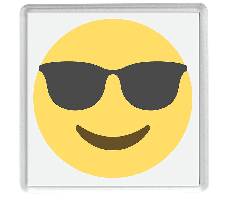 cara sonriente con gafas de sol Emoji Pack de 4 de 80mm x ...