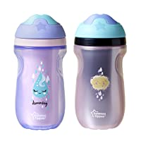 Tommee Tippee Insulated Non-Slip Spill Proof Sipper Tumbler, BPA-Free, Girl, Pink...