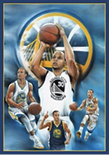 Poster Stephen Curry Golden State Warriors Basketball Sports Print (24in x 36in)