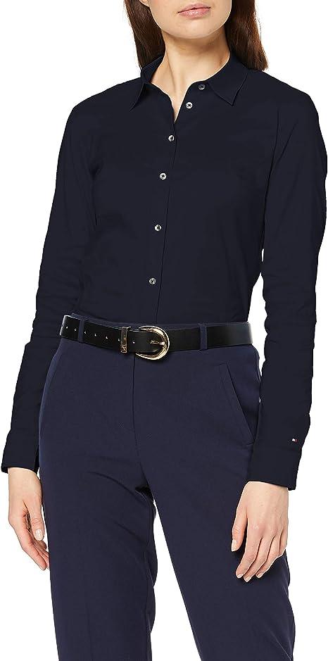 Tommy Hilfiger Damen Heritage Slim Fit Shirt Bluse