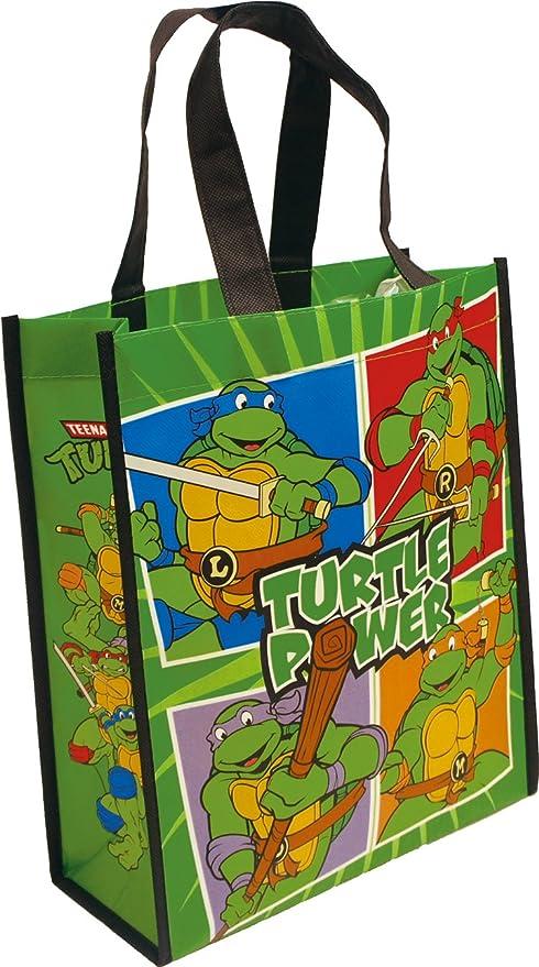 Vandor 38073 Teenage Mutant Ninja Turtles Small Recycled Shopper Tote, Multicolor