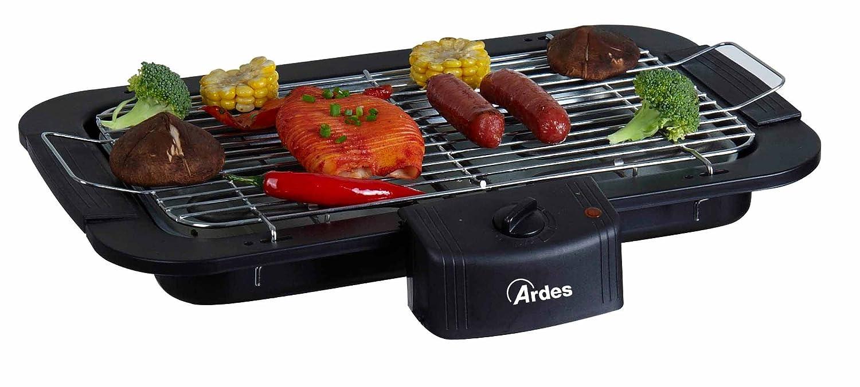 Ardes AR1B01- Barbecue Senza Fumo Elettrico Portatile, Regolazione Temperatura, 2200 W, Nero Poly Pool