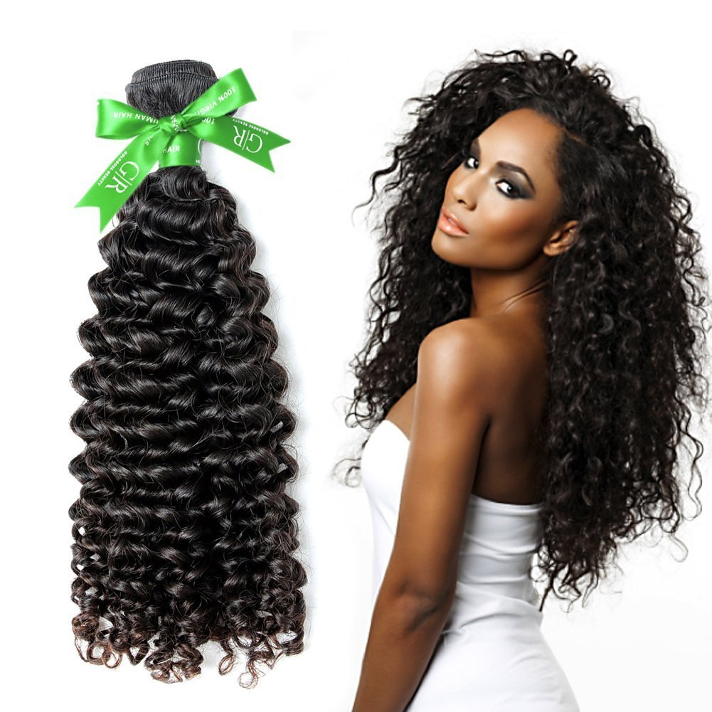 Amazon Goldrose Beauty Grade 6a Curly Weave Natural Black