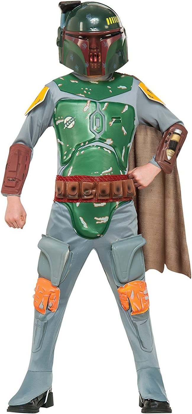Multiple Sizes Available Star Wars Boba Fett Deluxe Child Boy/'s Costume