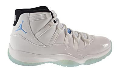 best website 745e4 b3bd5 Jordan Air 11 Retro Men s Shoes White Legend Blue-Black 378037-117 (