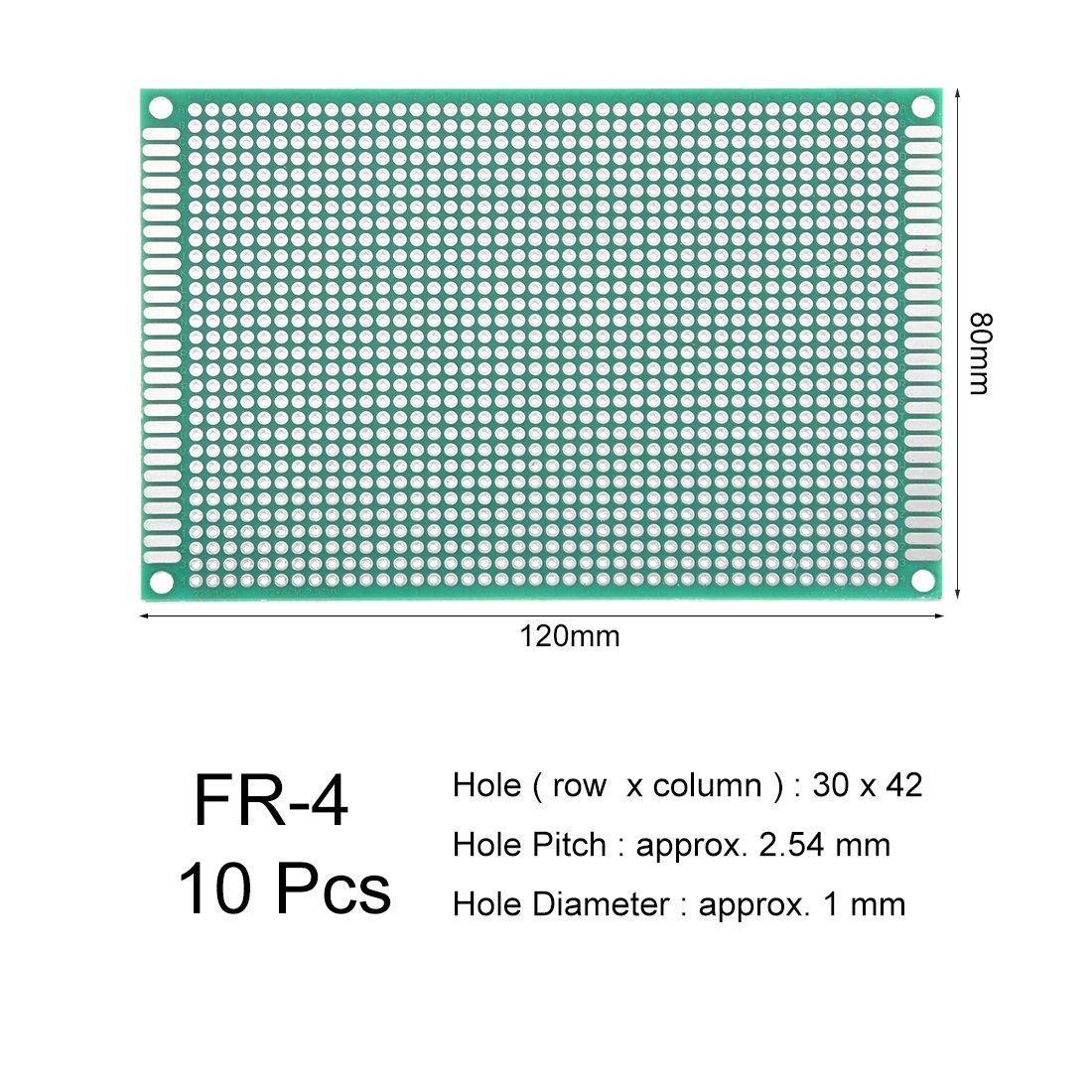 Sourcingmap 8/x 12/cm double face universel carte de circuit imprim/é pour bricolage /à souder 10/pcs