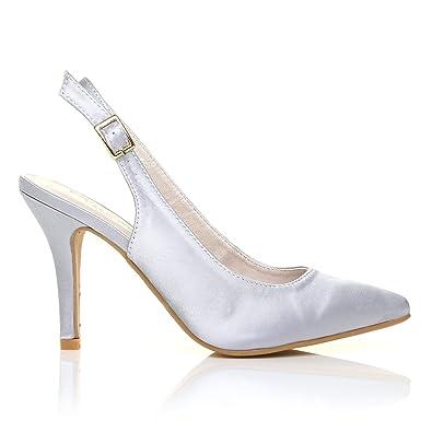 Chaussures à bout pointu Shuwish UK argentées femme CVhEGCroq