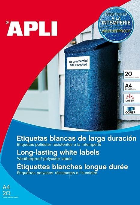 Amazon.com: APLI 01226 - Etiquetas para impresora (blanco ...