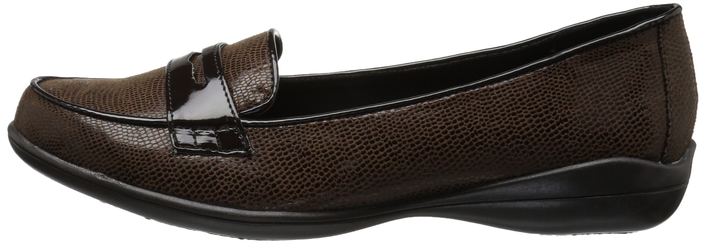 Soft Style by Hush Puppies Women's Daly Penny Loafer, Dark Brown Lizard/Patent, 8.5 W US by Soft Style (Image #5)