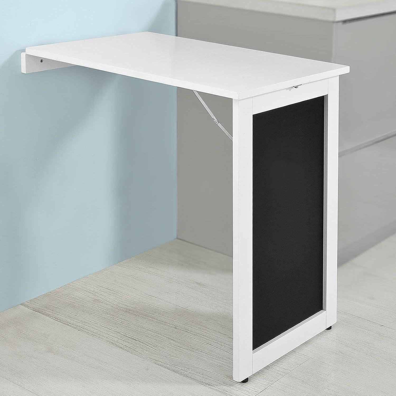 It avec Tableau SoBuy/® Table Murale Pliante fwt20-w Blanc 75/* 50/cm