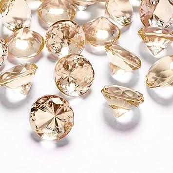 Kristall Deko amazon de deko diamanten 20 mm gold apricot 10 stück streudeko
