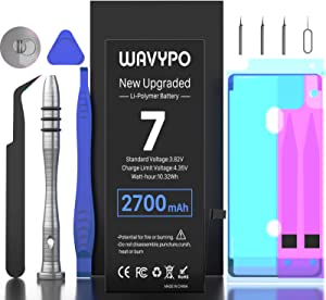 2700mAh Battery for iPhone 7, Wavypo Upgrade High Capacity New 0 Cycle Battery Replacement for iPhone 7 A1660 A1778 A1779 Spare Battery with Full Repair Tools and Adhesive Strips Kit