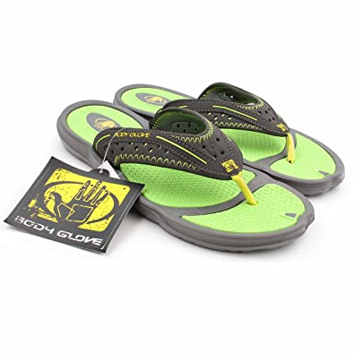 Body Glove Mens Kona Sandals (7, Black Green)
