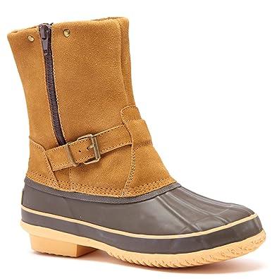 Randi Womens Fashion Faux Suede Duck Boots