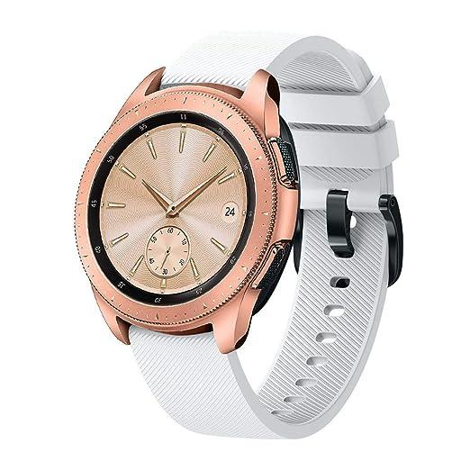 Hombre Mujer Reloj Correa De Pulsera De Silicona para Reloj Samsung Galaxy Watch 42Mm (Blanco