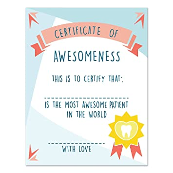 Amazon certificate of awesomeness 16x20 inch print best certificate of awesomeness 16x20 inch print best patient certificate award certificate children certificate yelopaper Gallery