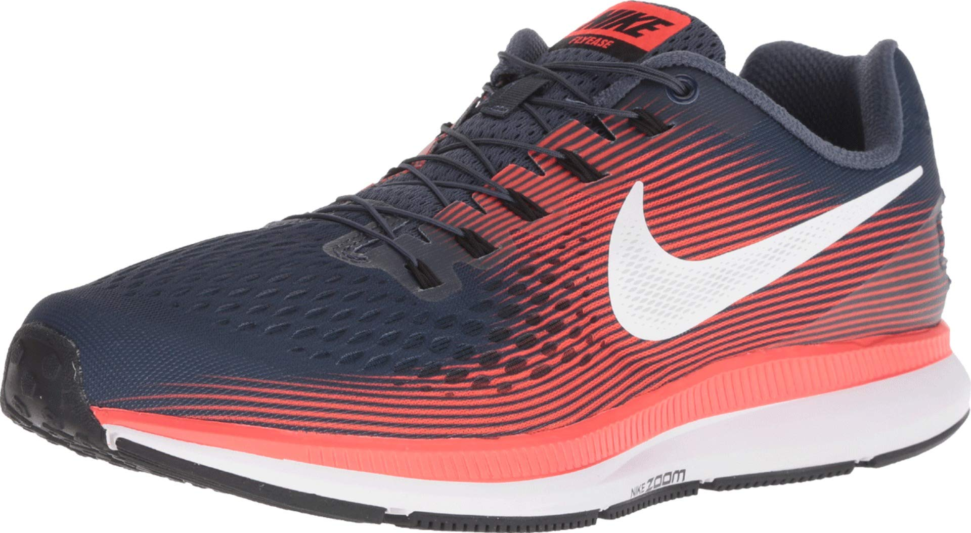 Nike Men's Zoom Pegasus 34 Flyease Running Shoe (11.5 D(M) US, Thunder Blue/White-Bright Crimson-Black)