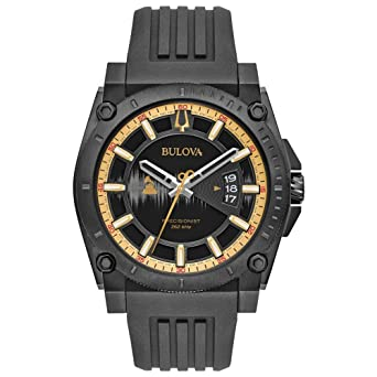f308da19c76 Bulova Special Edition Grammy Precisionist Black Rubber Strap 98B294   Amazon.co.uk  Watches