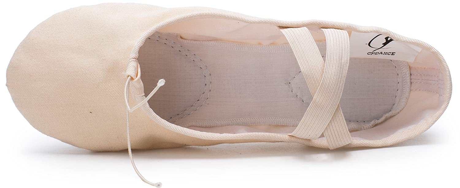 Cpdance TM Canvas Split Sole Practice Ballet Dancing Shoes Slipper Yoga Shoes for Children and Adults