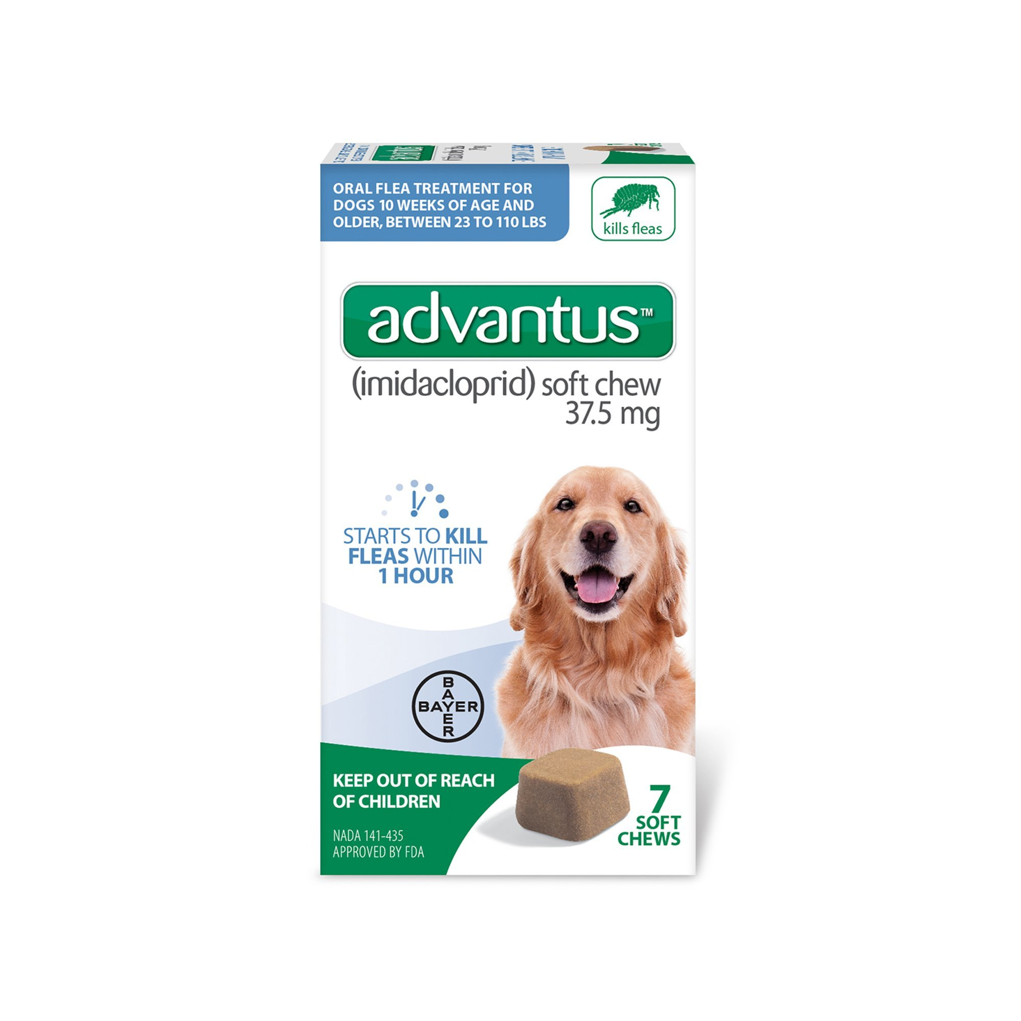 Advantus Flea Soft Chews for Large Dogs 23-110lbs, 7 count