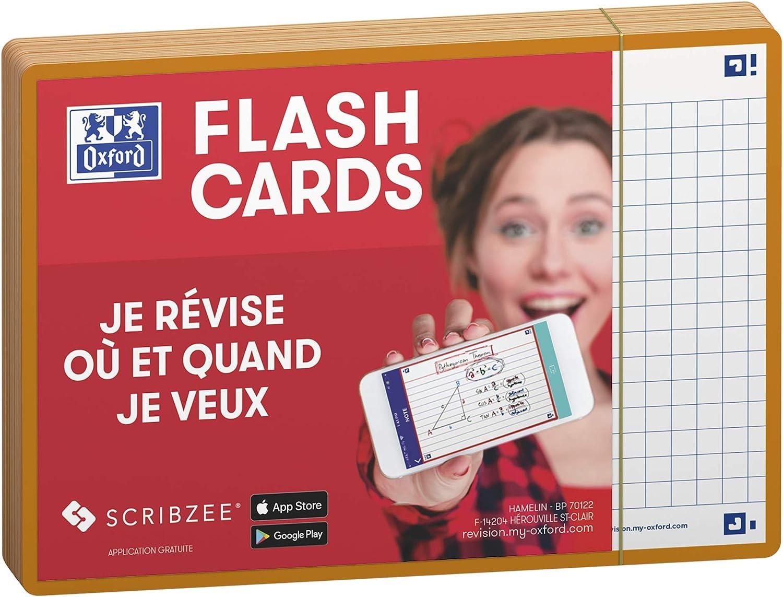 Oxford Flash 2.0 Flashcards A6 105x148mm Kariert 5mm Orange 80 St/ück