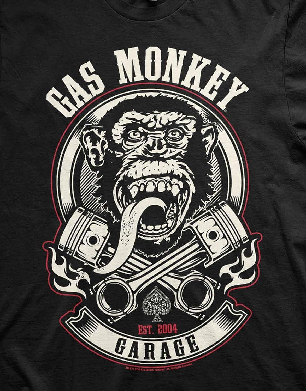 Playera Oficial de Gas Monkey Garage (GMG) - Pistones y Llamas ...